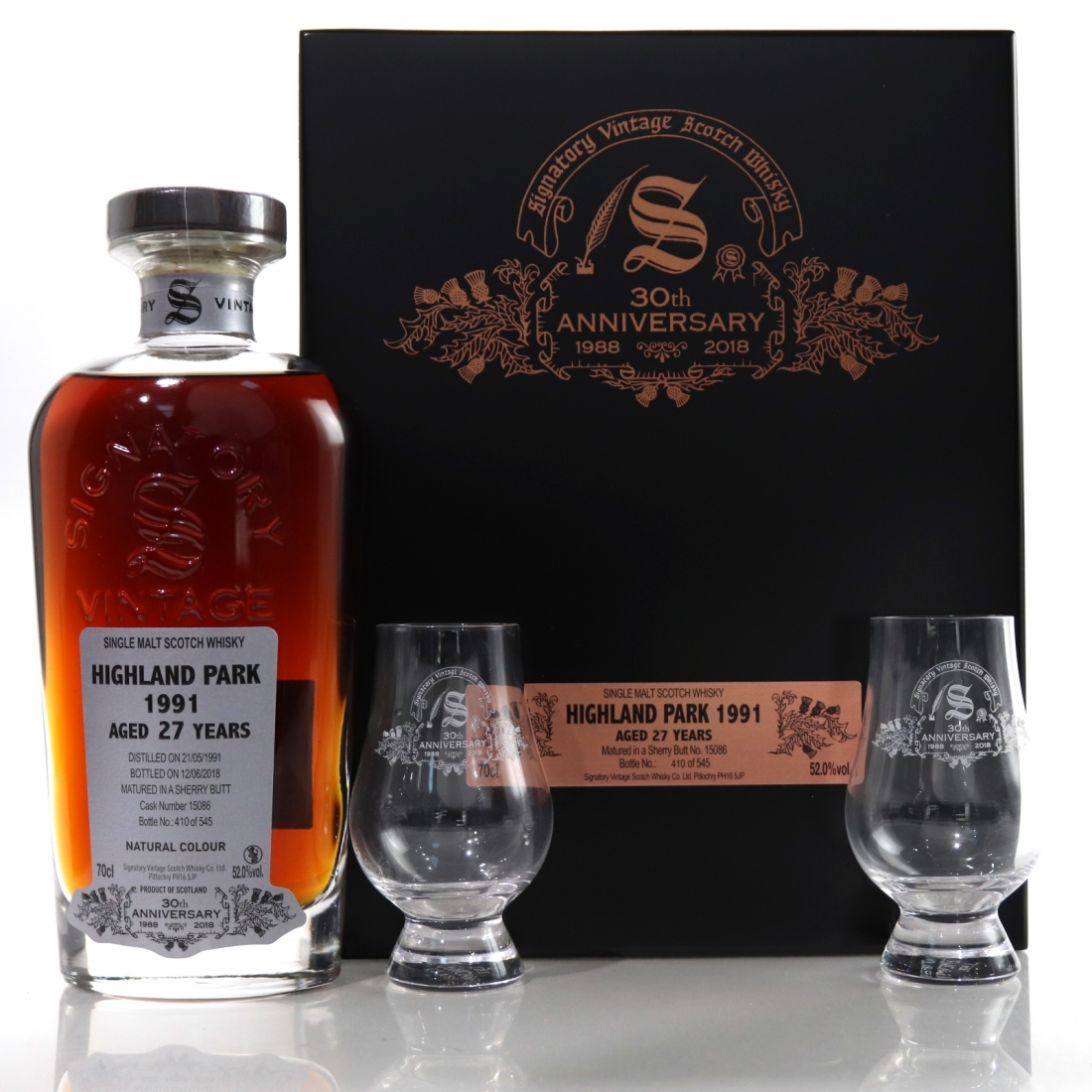 Highland Park 1991 Signatory Vintage 27 Year Old / 30th Anniversary