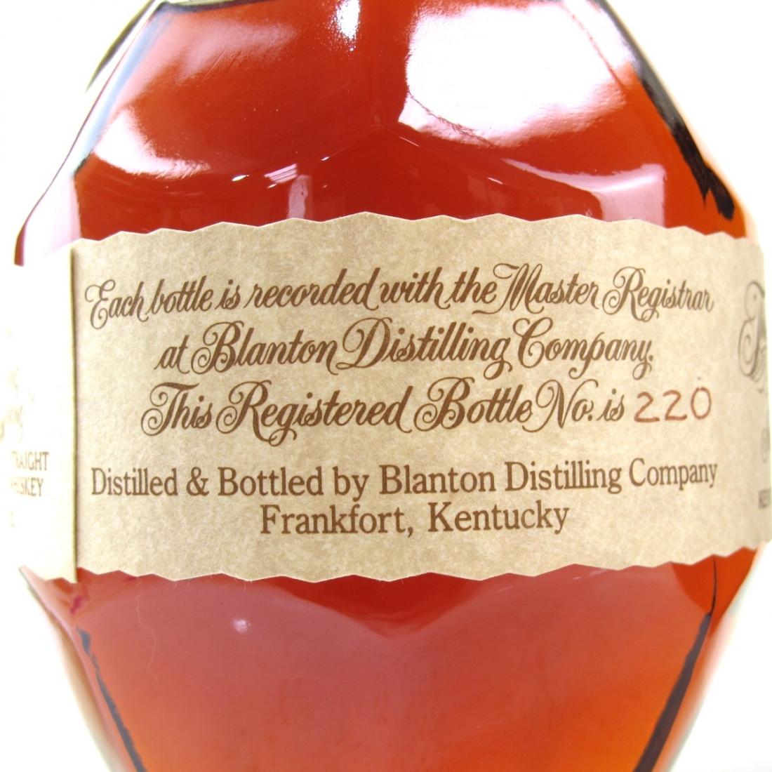 Blanton's Single Barrel Dumped 1991
