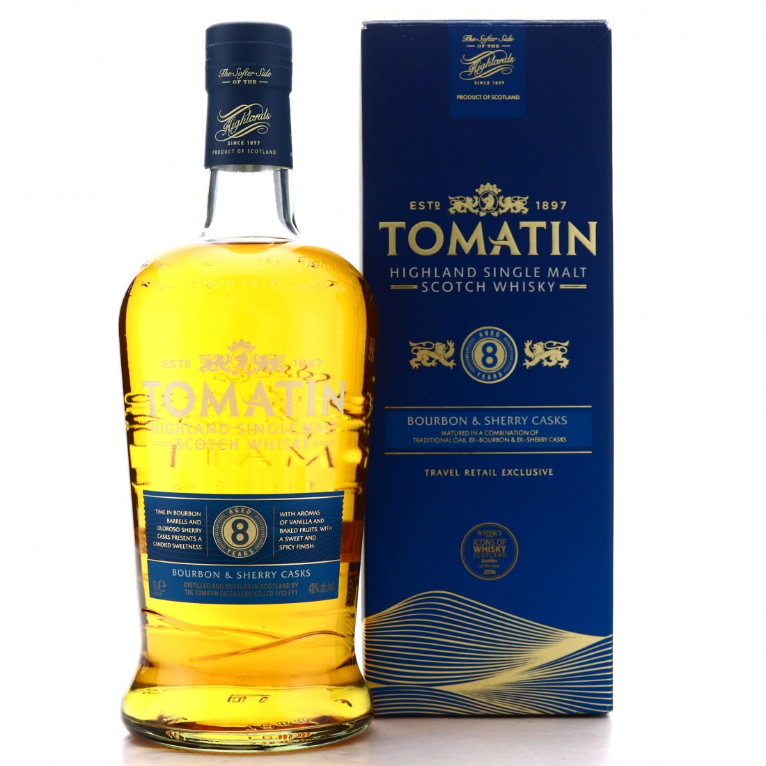 Tomatin 8 Year Old Bourbon & Sherry Casks 1 Litre