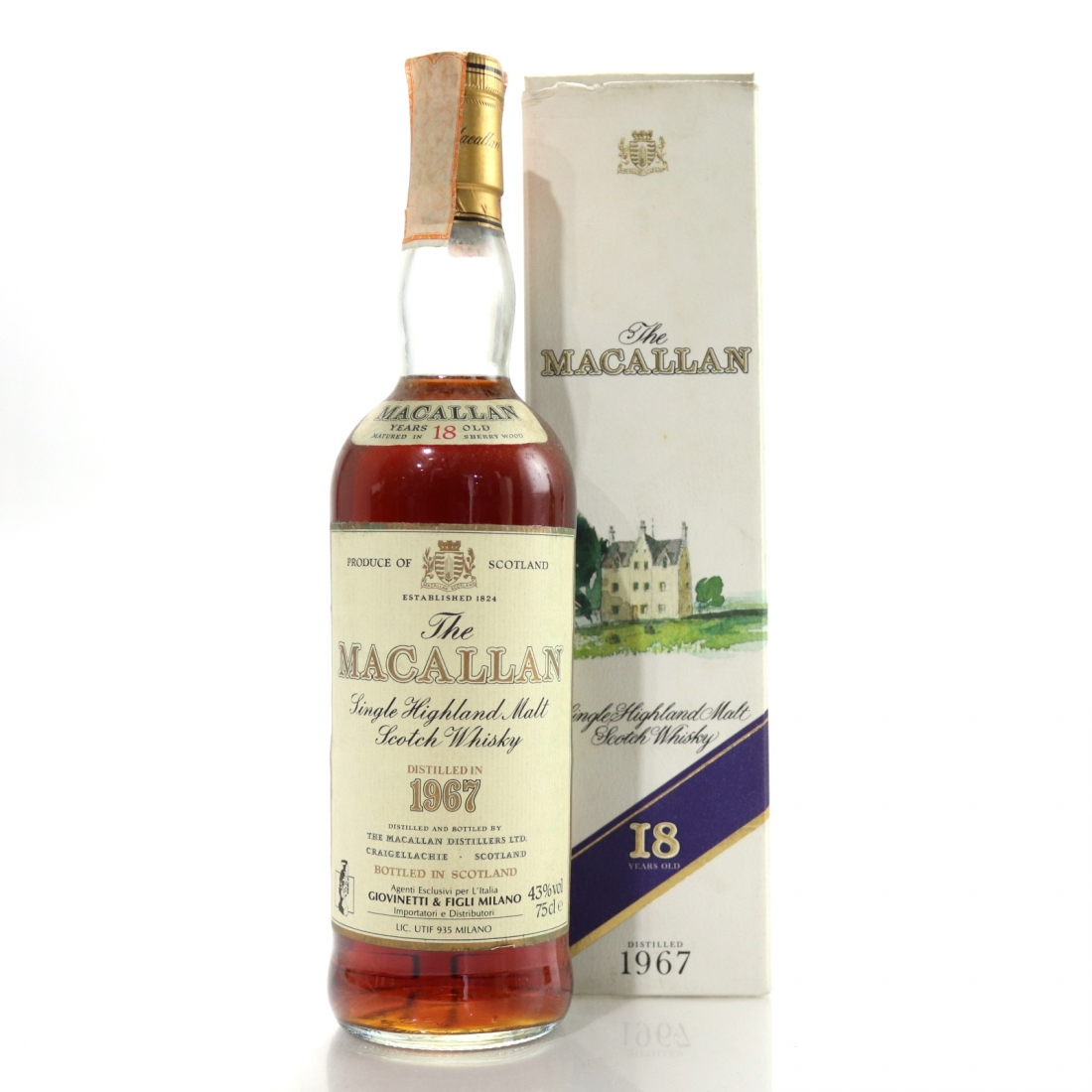 Macallan 1967 18 Year Old / Giovinetti Import