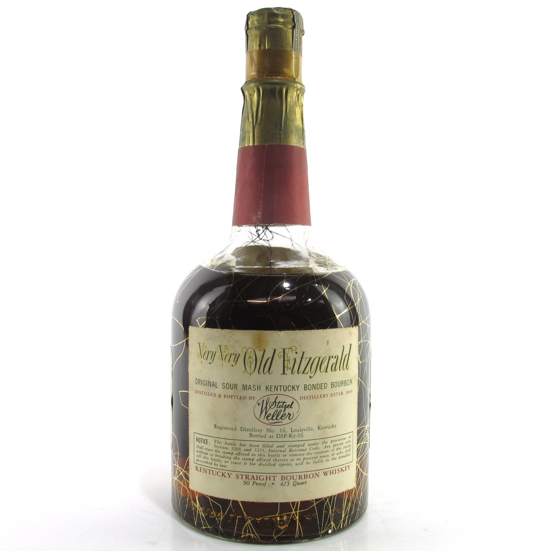 Very Very Old Fitzgerald 1952 Bonded 12 Year Old 90 Proof / Stitzel-Weller