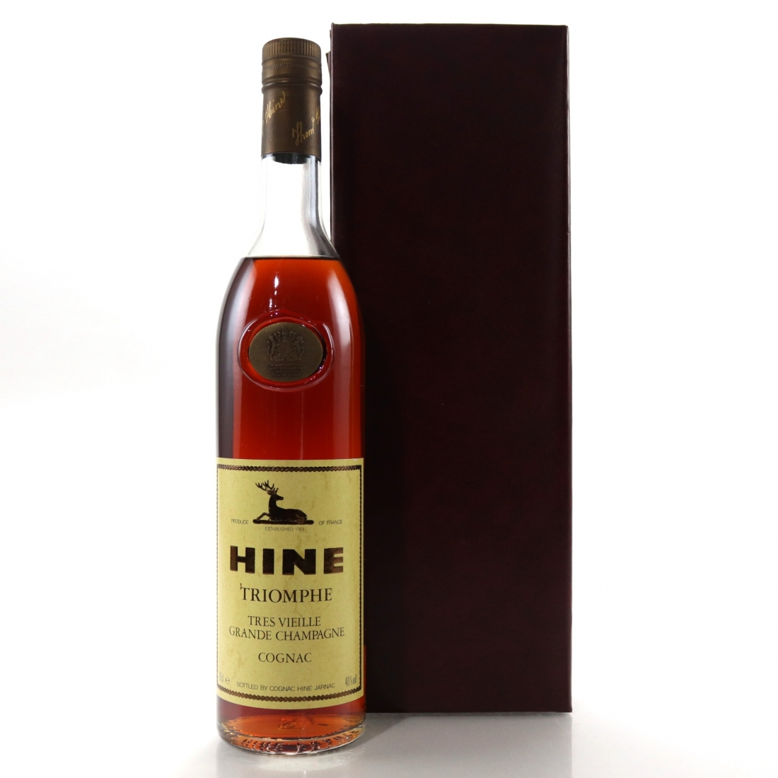 Hine Triomphe Grand Champagne Cognac 1980s / German Import