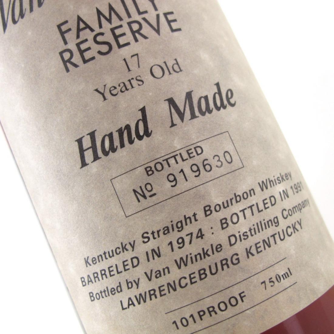 Van Winkle 1974 Family Reserve 17 Year Old
