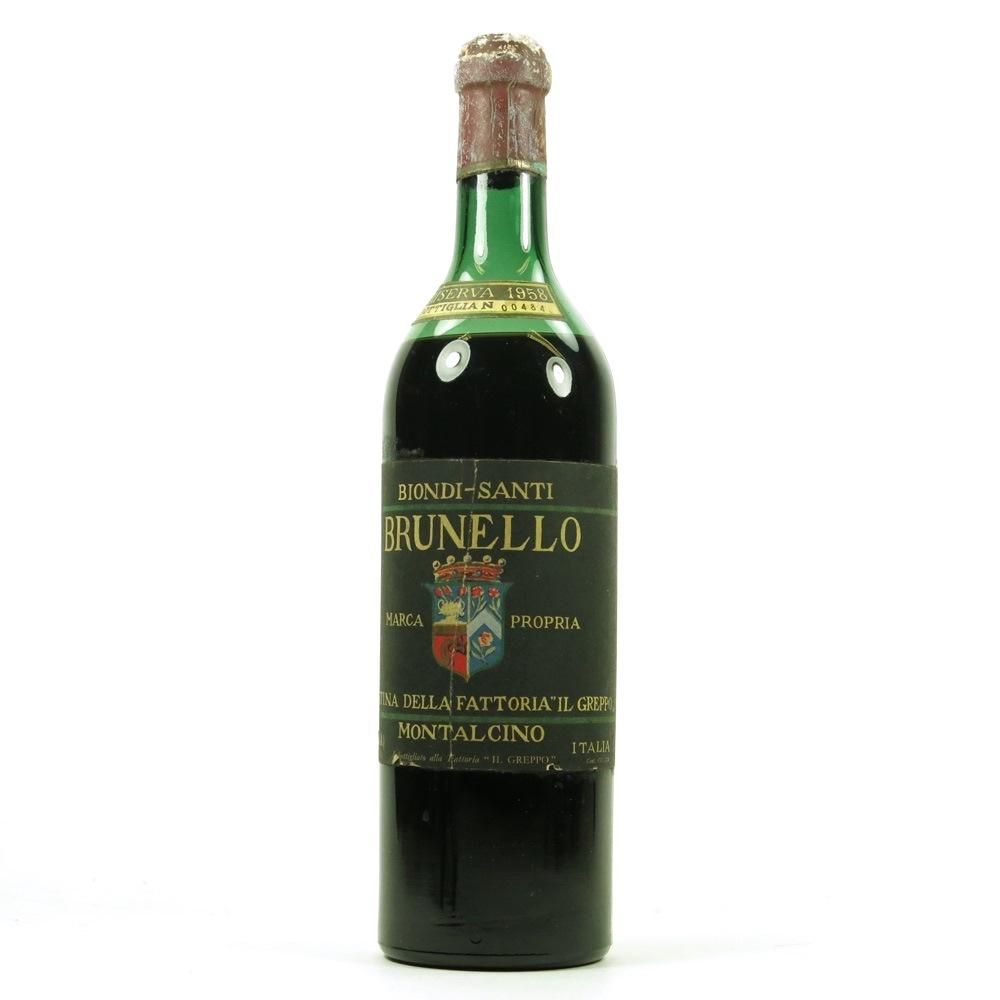 Biondi-Santi Tenuta Greppo Annata, Brunello di Montalcino DOCG 1958
