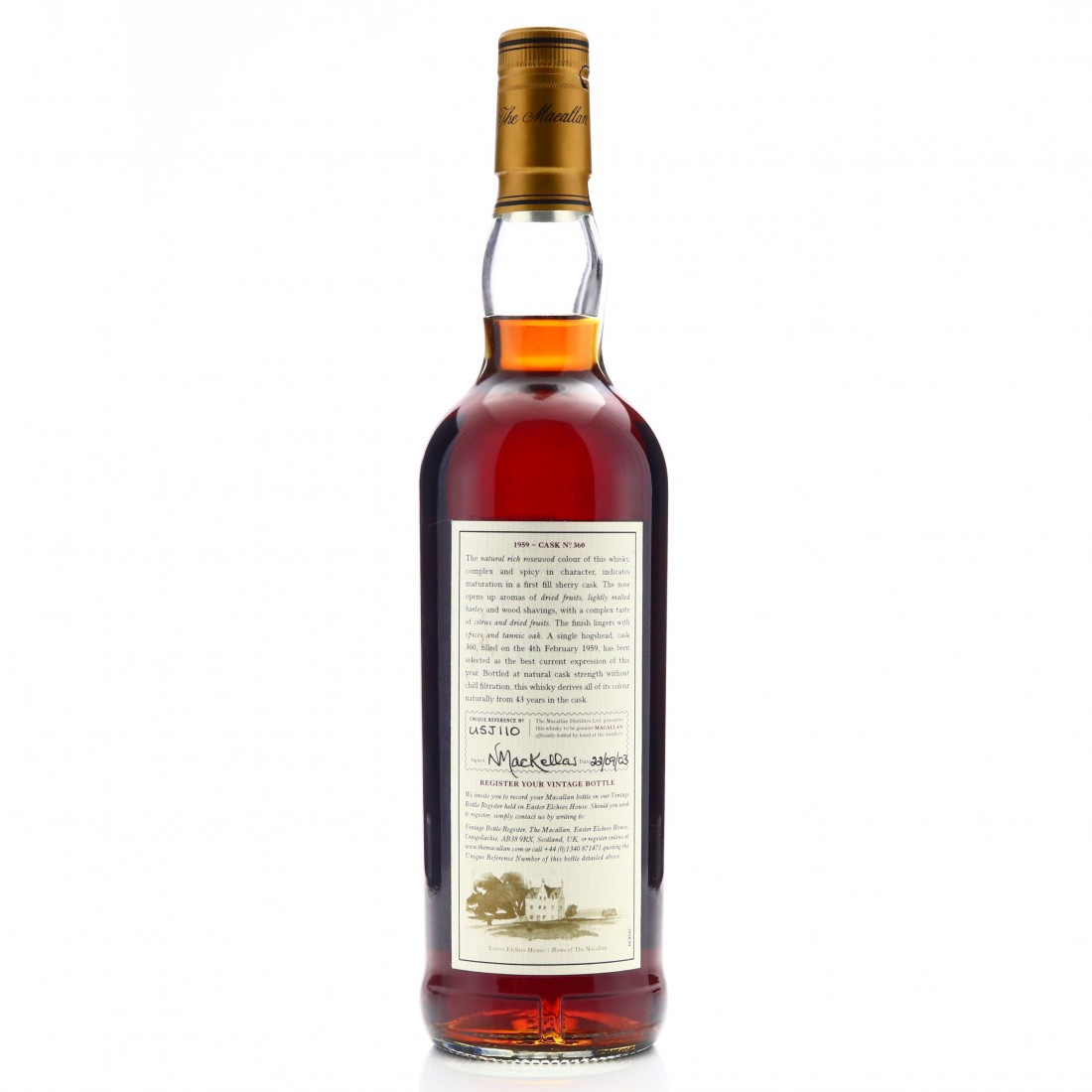 Macallan 1959 Fine and Rare 43 Year Old #360