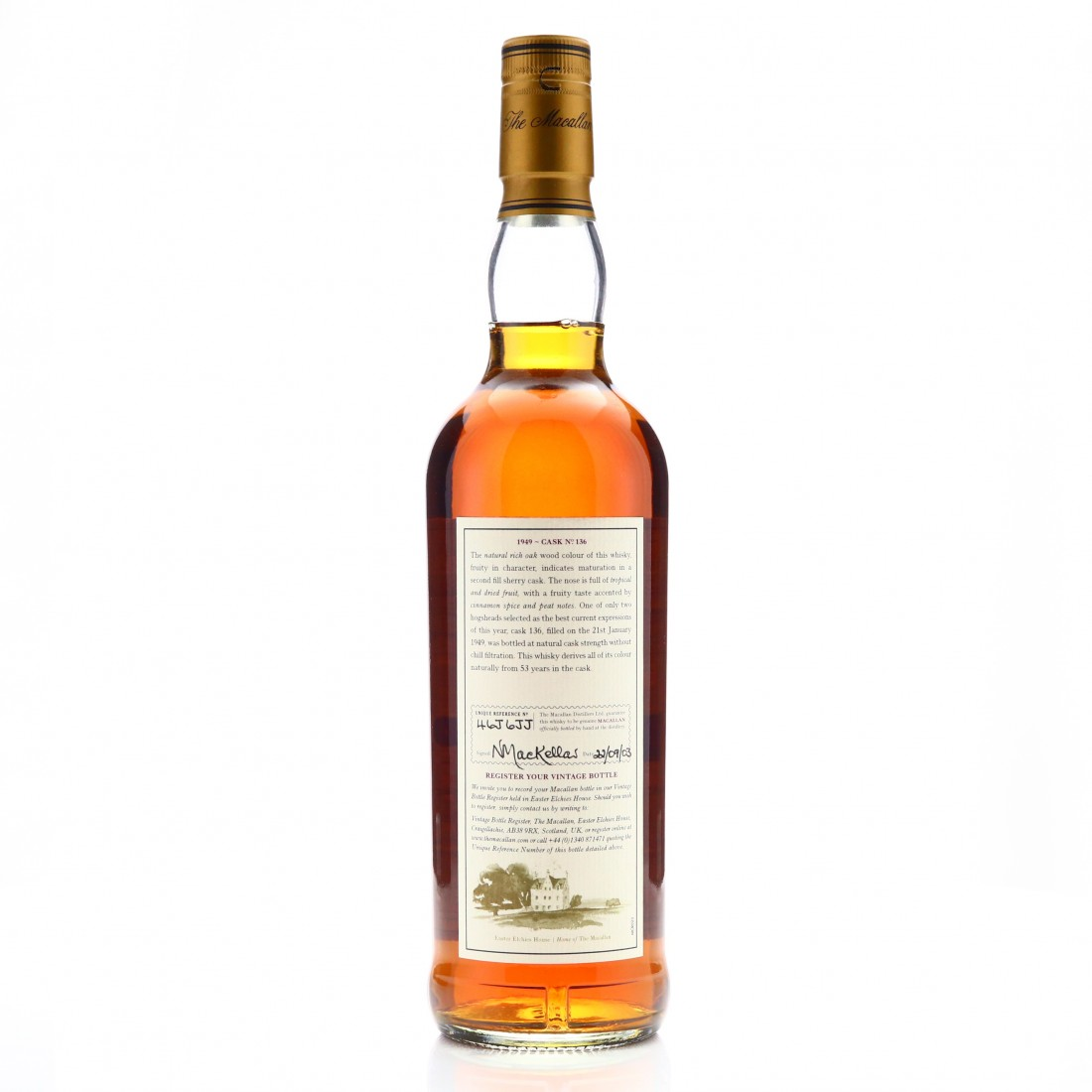 Macallan 1949 Fine and Rare 53 Year Old #136