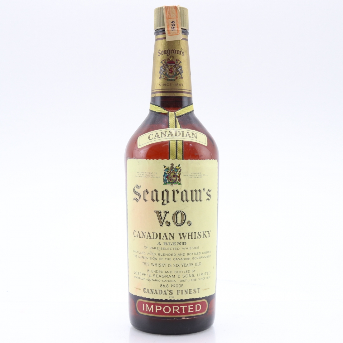 Seagram's VO 1966 Canadian Whisky