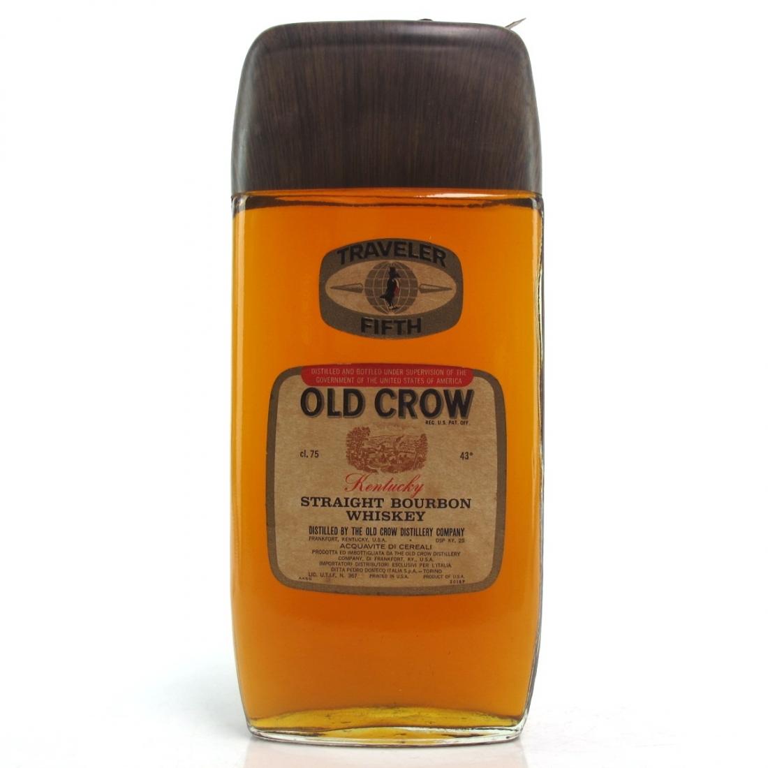 Old Crow Traveler Fifth Bourbon 1970s