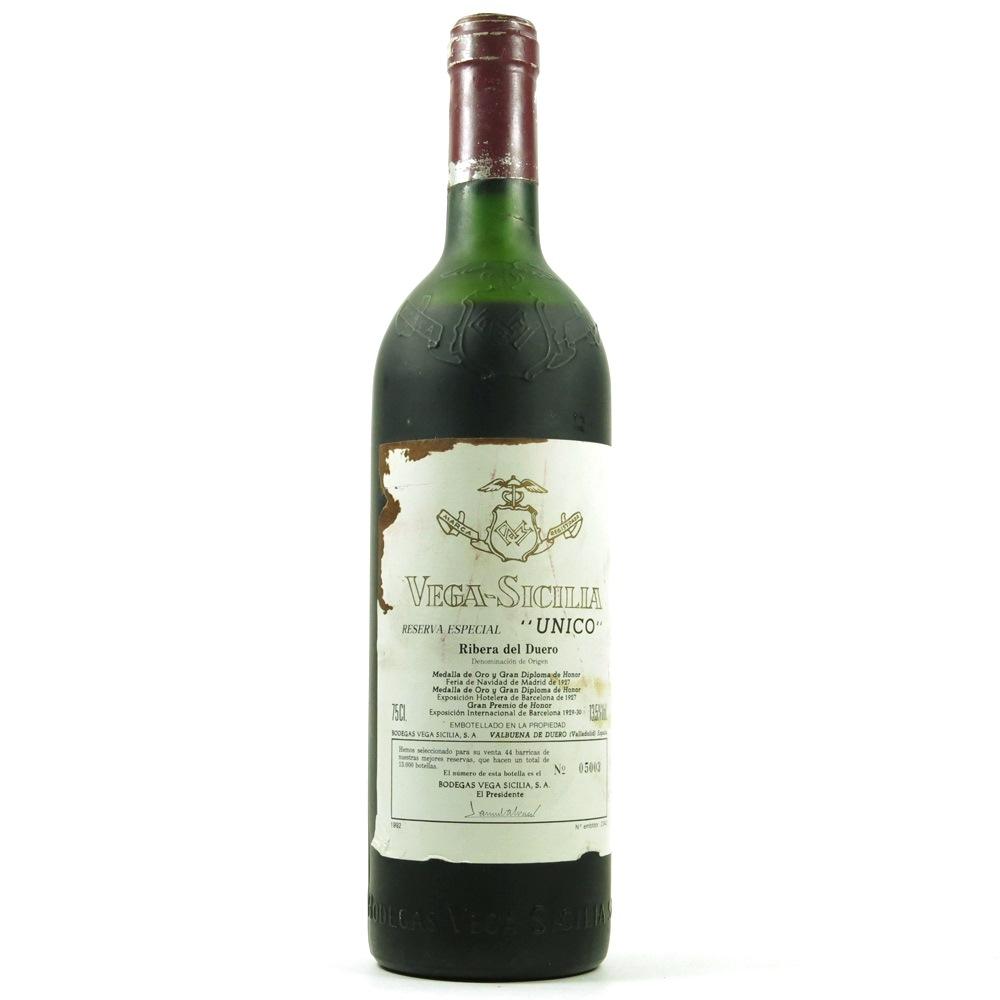 Vega Sicilia 'Unico' Reserva Especial (1992 release)