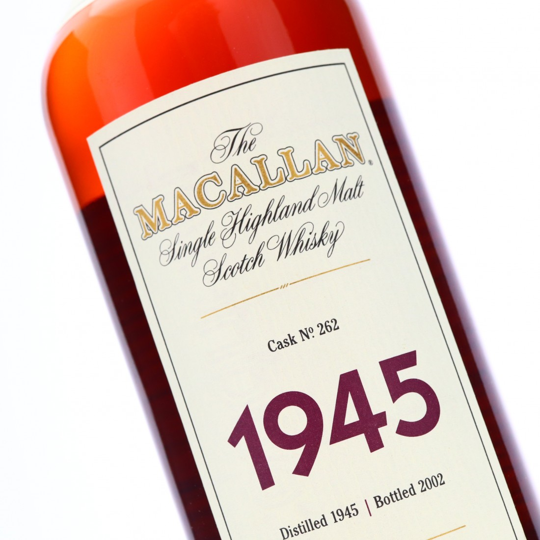 Macallan 1945 Fine and Rare 56 Year Old #262