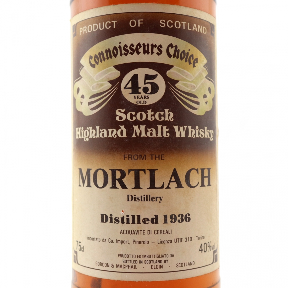 Mortlach 1936 Gordon and MacPhail 36 Year Old / Co. Pinerolo​ Import
