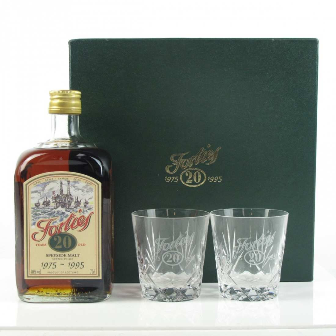 Glenfarclas 1975 Forties 20th Anniversary 20 Year Old / Including Two Glasses