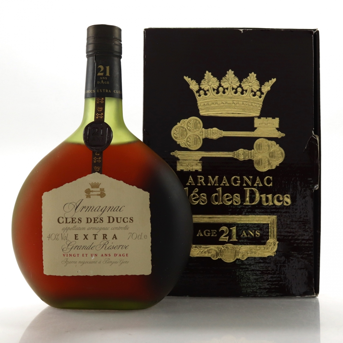 Cles des Ducs 21 Year Old Extra Grande Reserve Armagnac 1980s / German Import