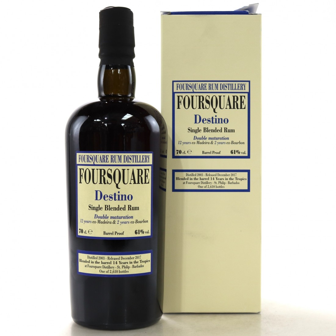 Foursquare 2003 Velier 14 Year Old Destino Single Blended Rum