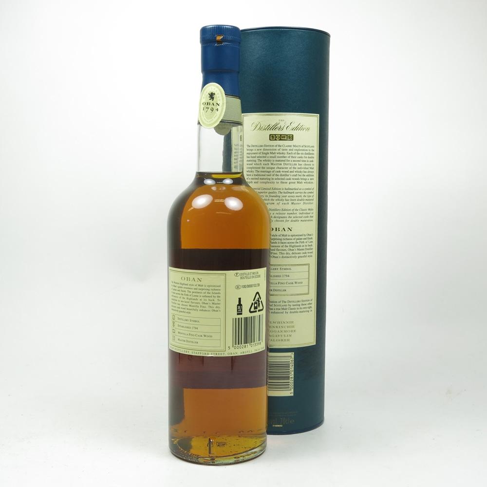 Oban 1990 Distillers Edition 2004 Back