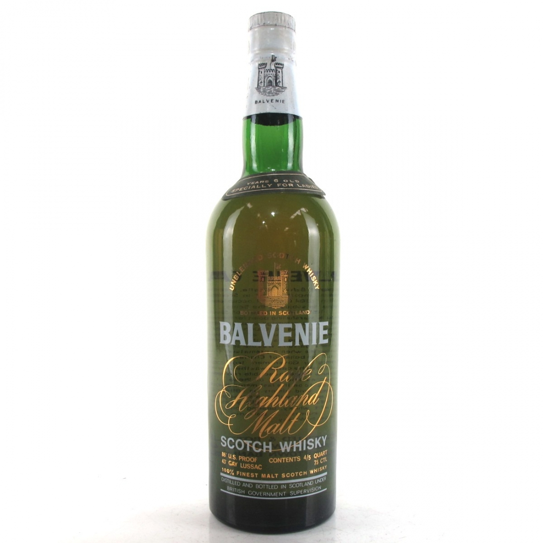 Balvenie 6 Year Old 1980s / Specially for Ladies