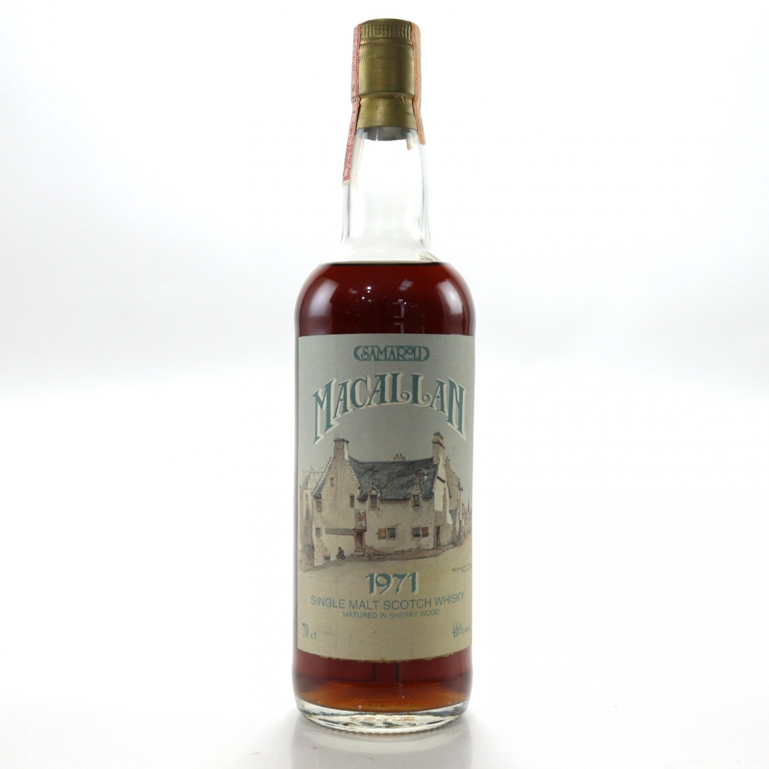 Macallan 1971 Samaroli Sherry Wood / Curved Distillery Label