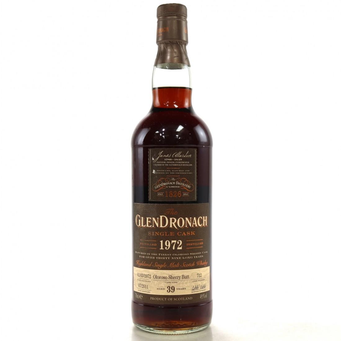Glendronach 1972 Single Cask 39 Year Old #712 / Bottle 466/466