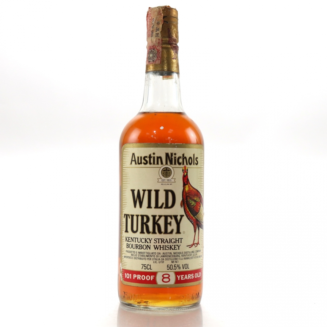 Wild Turkey 8 Year Old 101 Proof 1980s