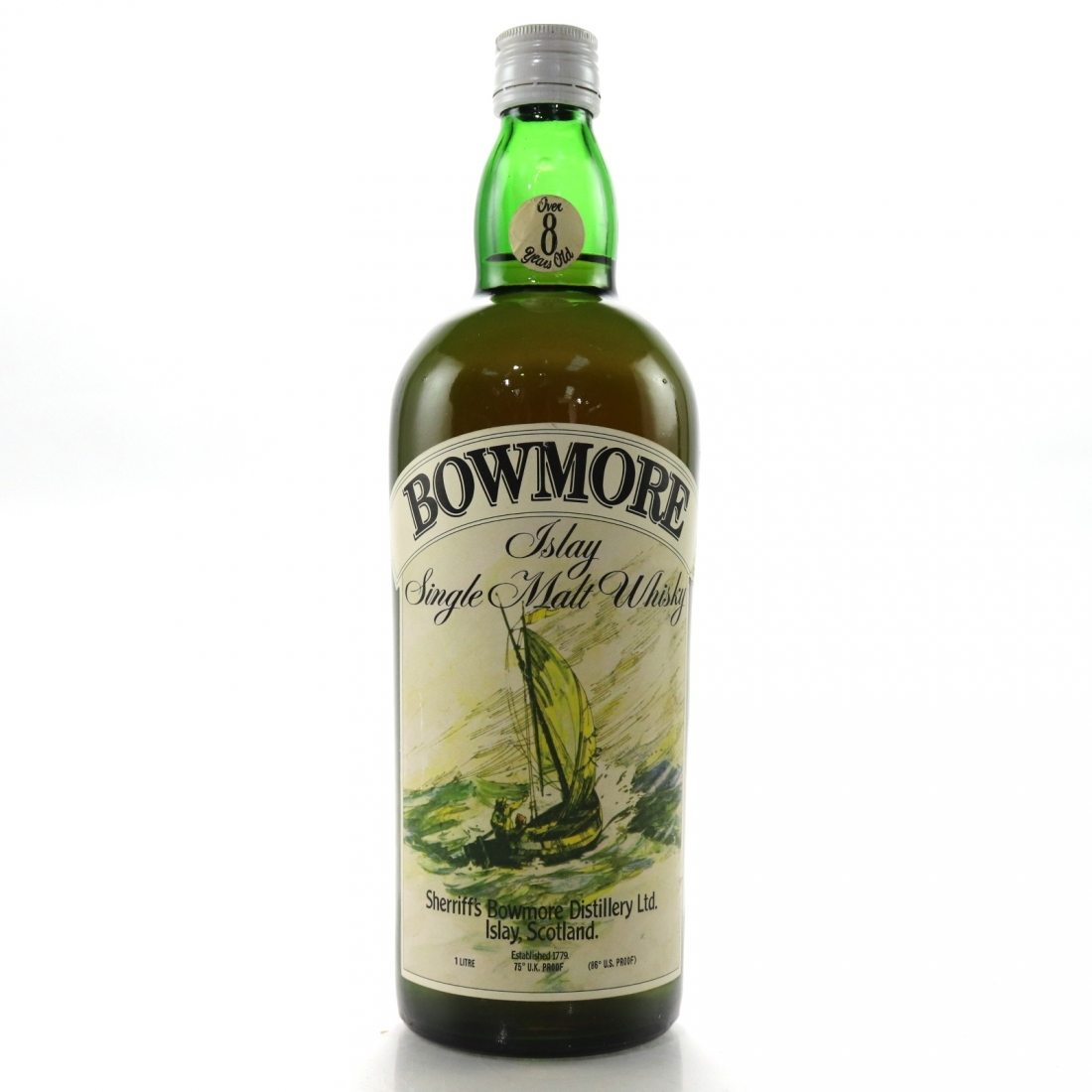 Bowmore 8 Year Old Sherriff's 1 Litre 1970s