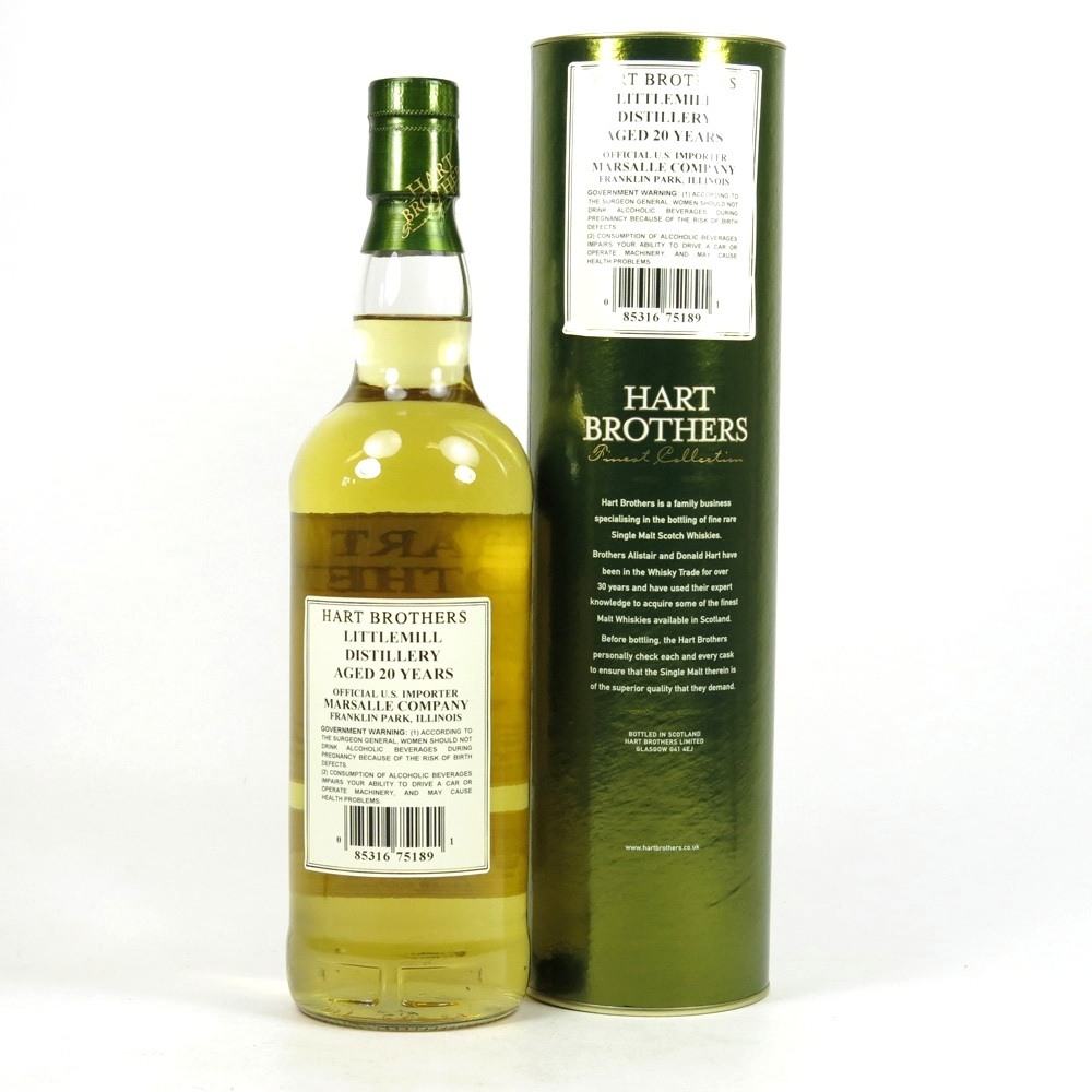 Littlemill 1984 Hart Brothers 20 Year Old / US Import