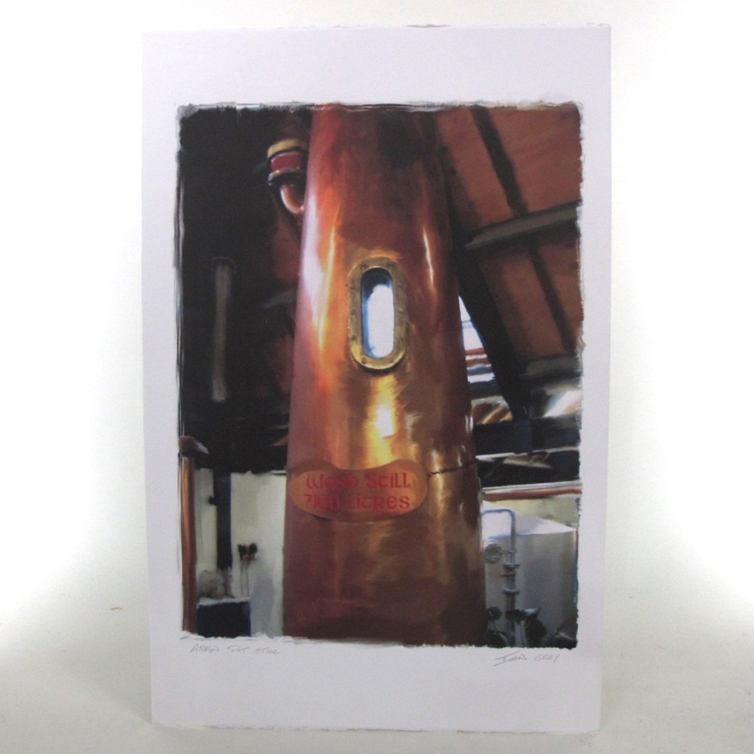 Arran Pot Still - Hand Signed by Artist Ian Gray 300g Watercolour Paper