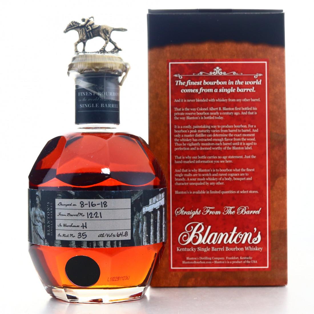 Blanton's Straight from the Barrel Dumped 2018 / Greek Label