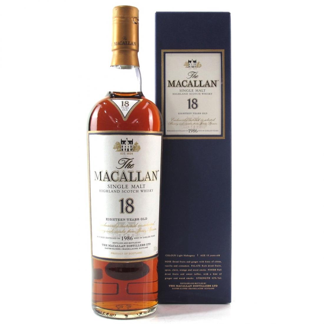 Macallan 18 Year Old 1986