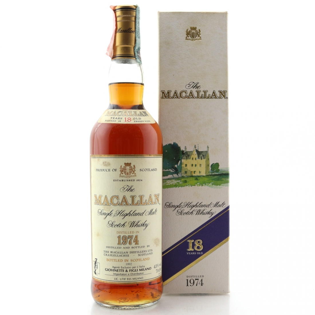 Macallan 1974 18 Year Old / Giovinetti Import