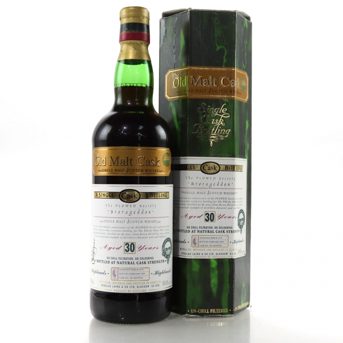Brora 1972 Douglas Laing 30 Year Old 75cl / The Brorageddon