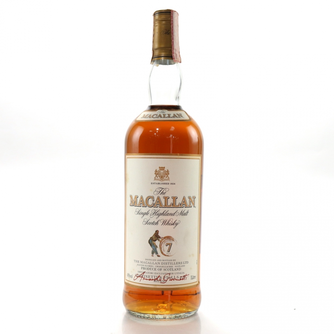 Macallan 7 Year Old Armando Giovinetti Special Selection 1 Litre
