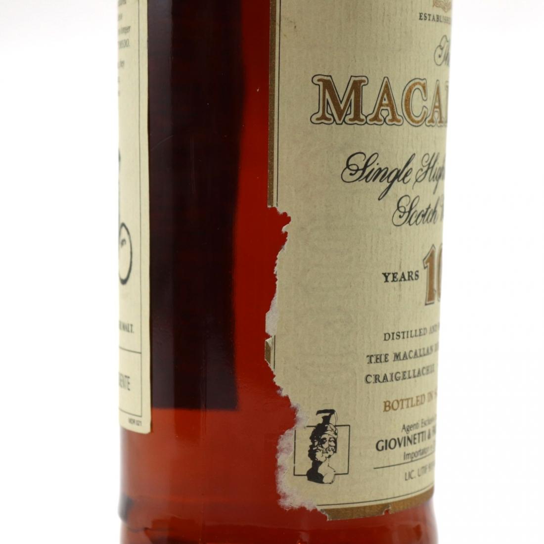 Macallan 10 Year Old 1990s / Giovinetti Import