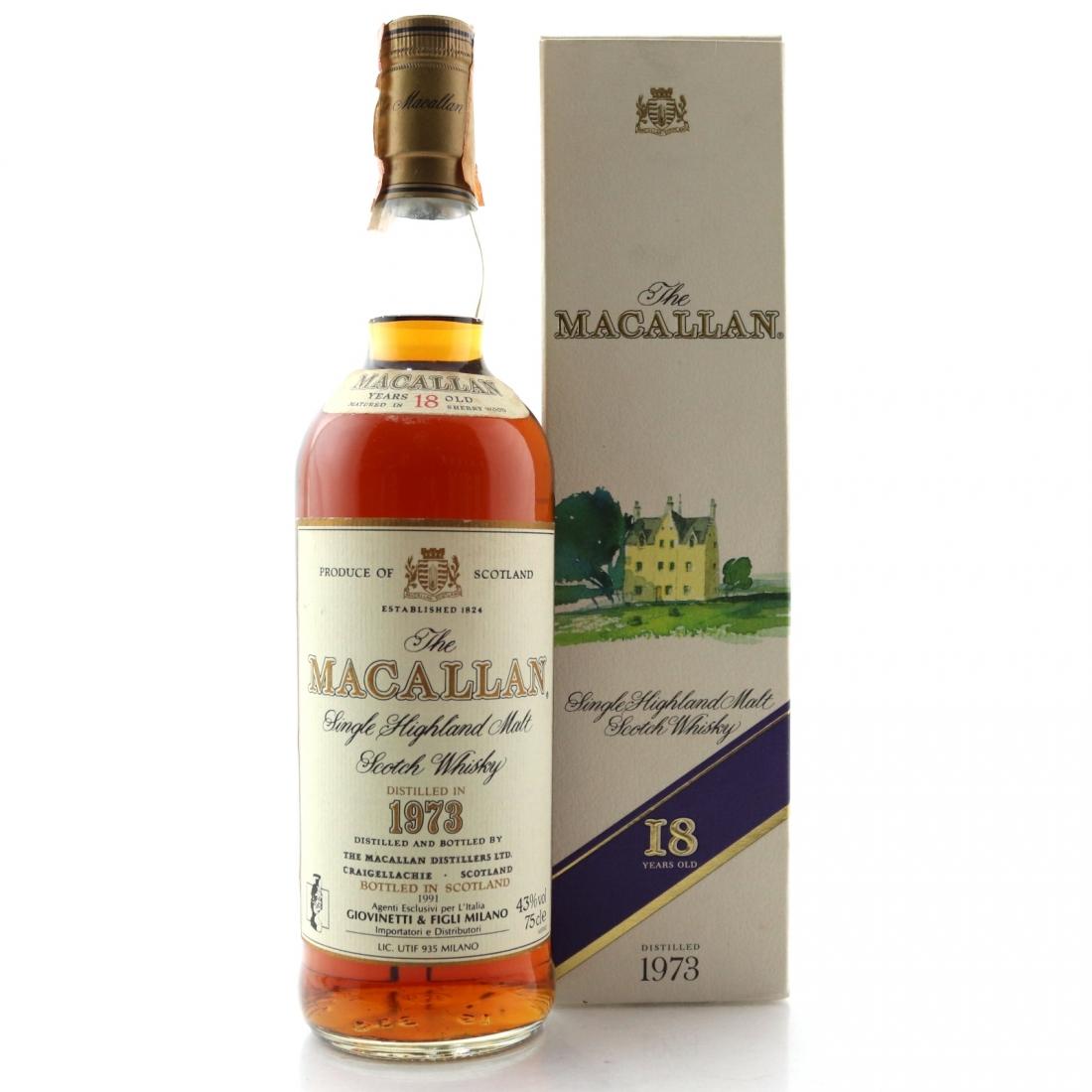 Macallan 1973 18 Year Old / Giovinetti Import