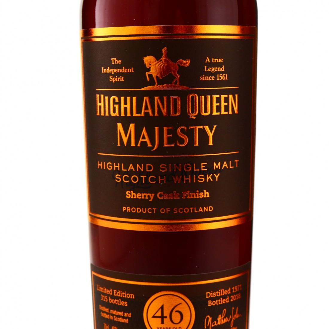 Highland Queen 1971 Majesty 46 Year Old Highland Single Malt