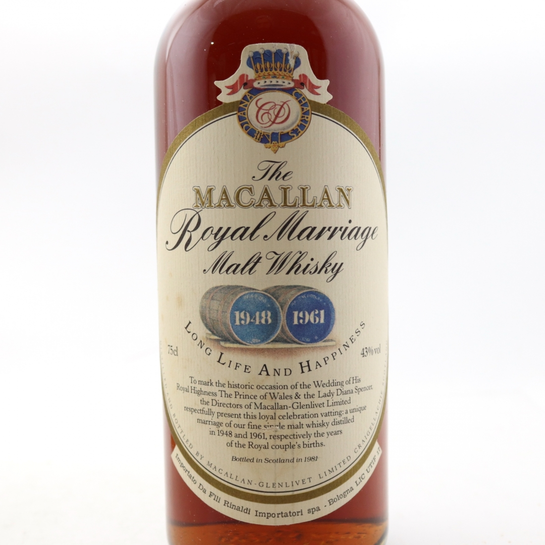 Macallan 1948/1961 Royal Marriage 1981 / Rinaldi Import