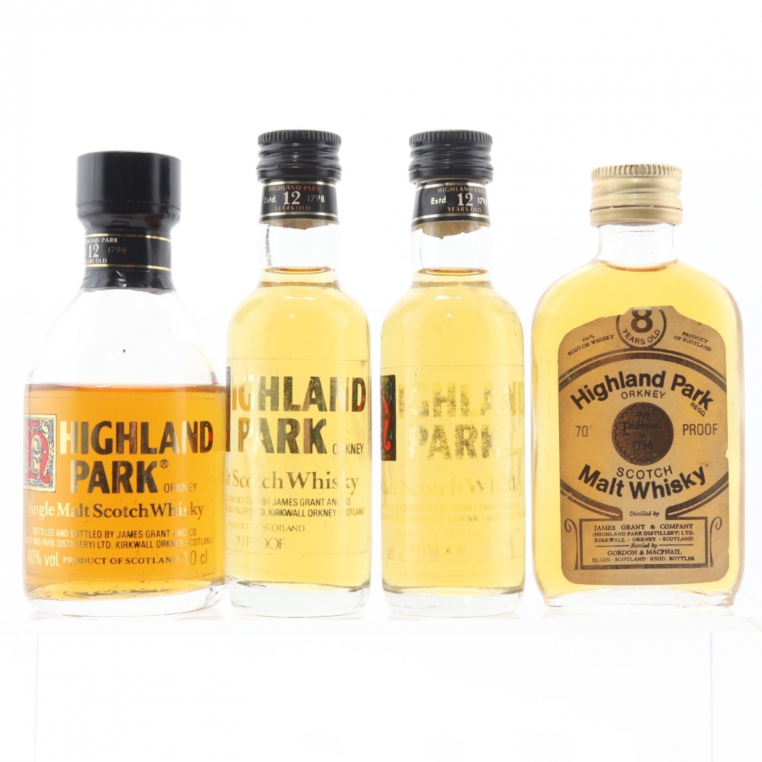 Highland Park Miniatures x 4 / Including 1970s 8 Year Old G&M