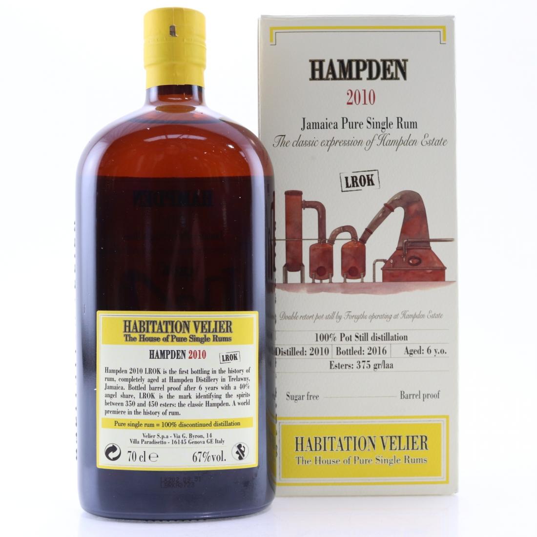 Hampden 2010 Habitation Velier 6 Year Old Jamaican Rum / LROK