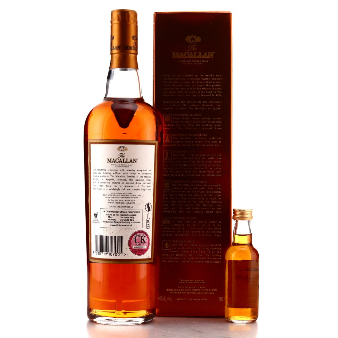 Macallan 10 Year Old with Miniature