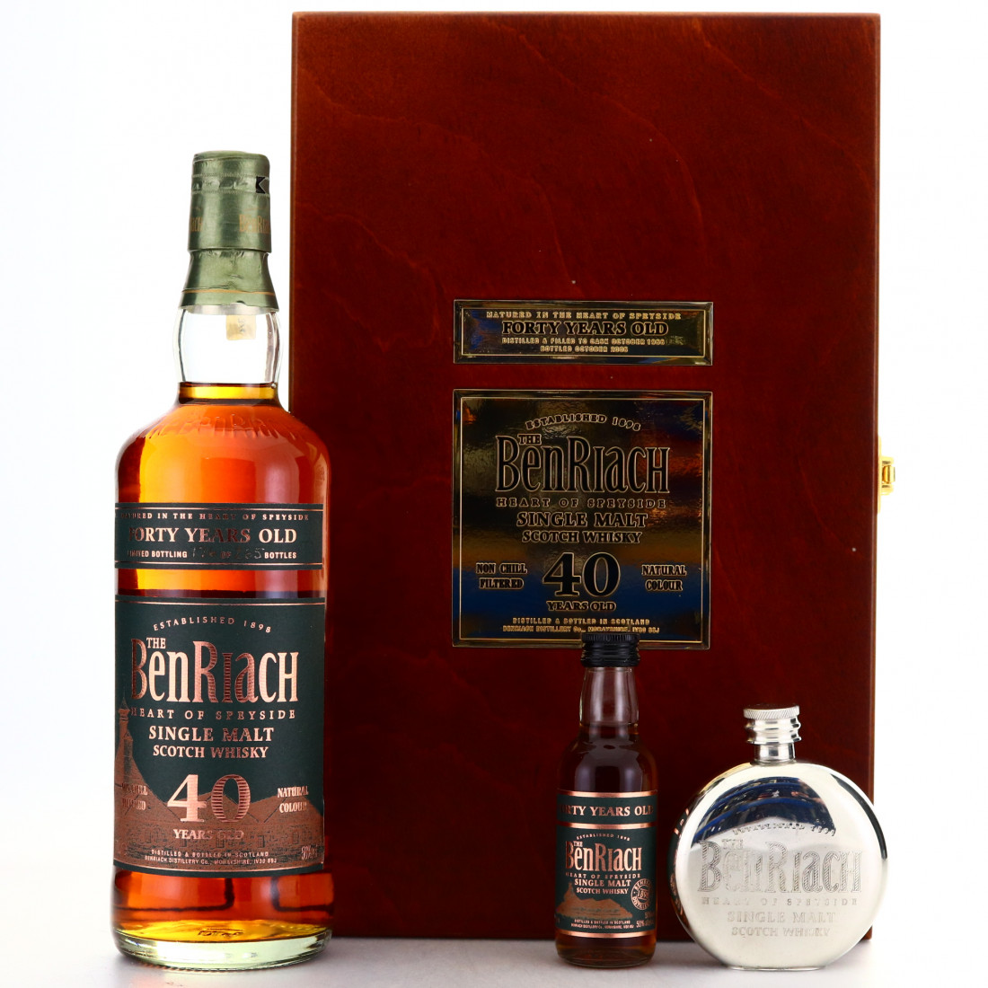 Benriach 40 Year Old /with Miniatures and Hip Flask