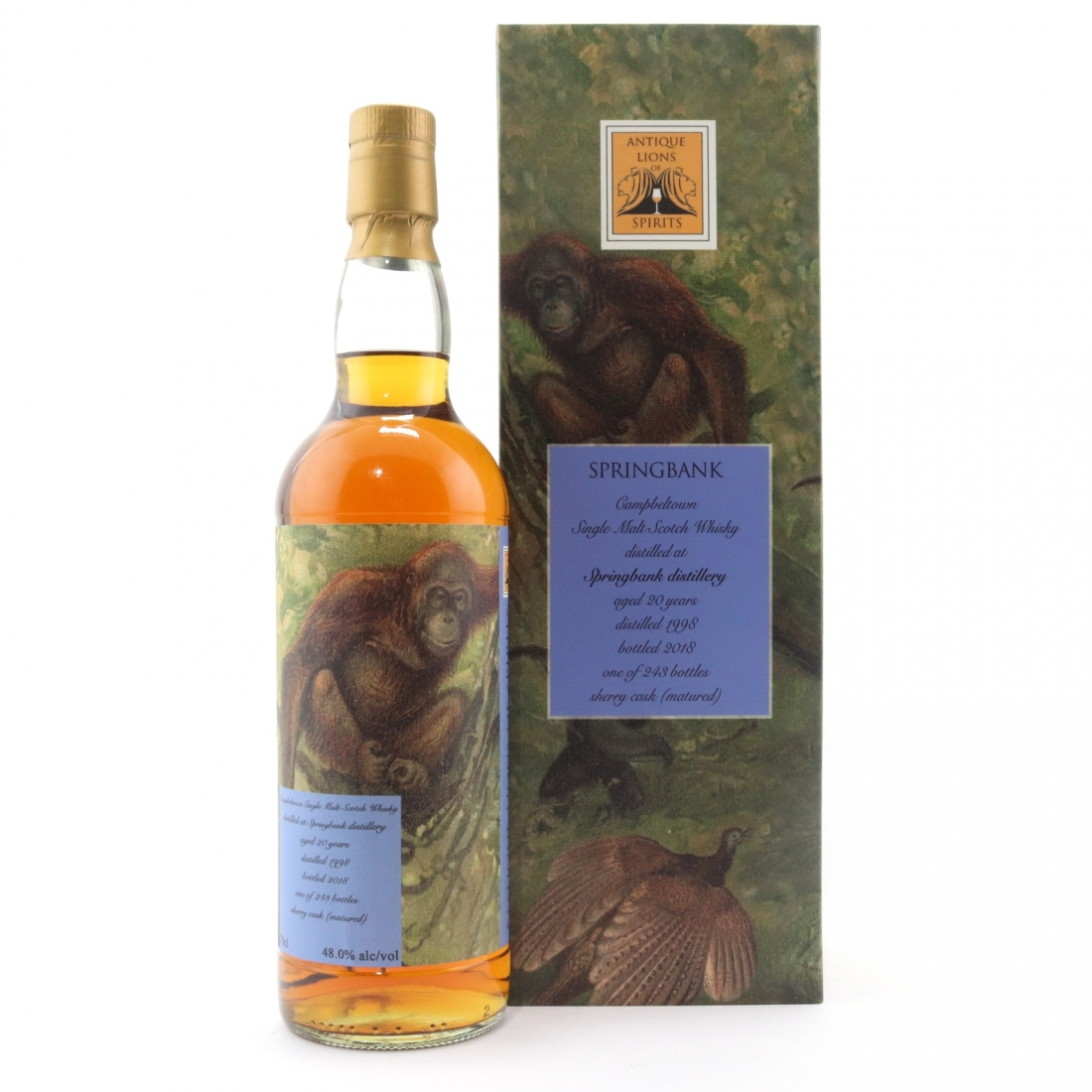 Springbank 1998 Antique Lions 20 Year Old / Savannah