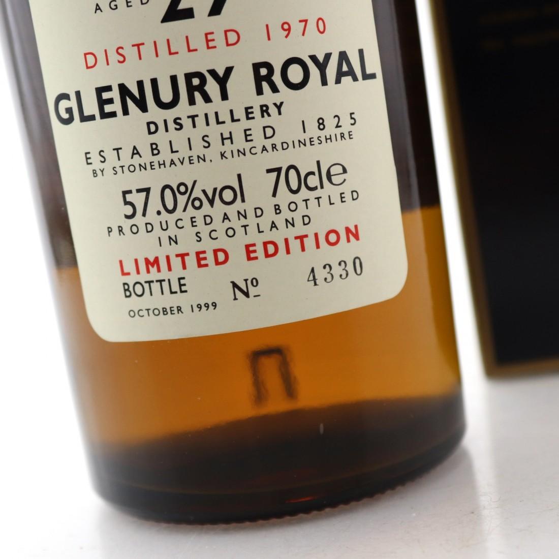 Glenury Royal 1970 Rare Malt 29 Year Old / 57.0%