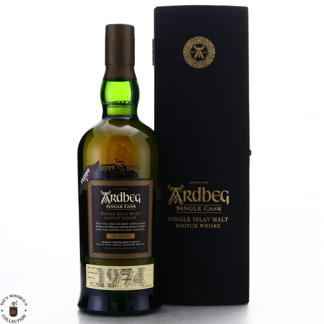 Ardbeg 1974 Single Bourbon Cask 32 Year Old #3306 / Juul's Flight No.2 'Flying Turf'