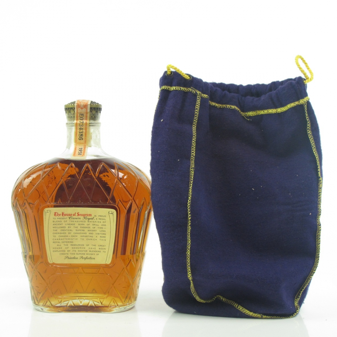 Seagram's 1958 Crown Royal Canadian Whisky