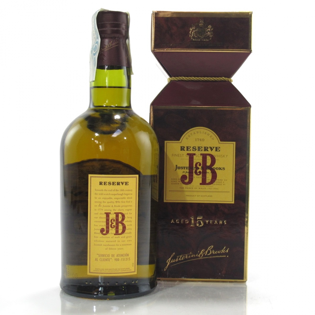 J&B Reserve 15 Year Old