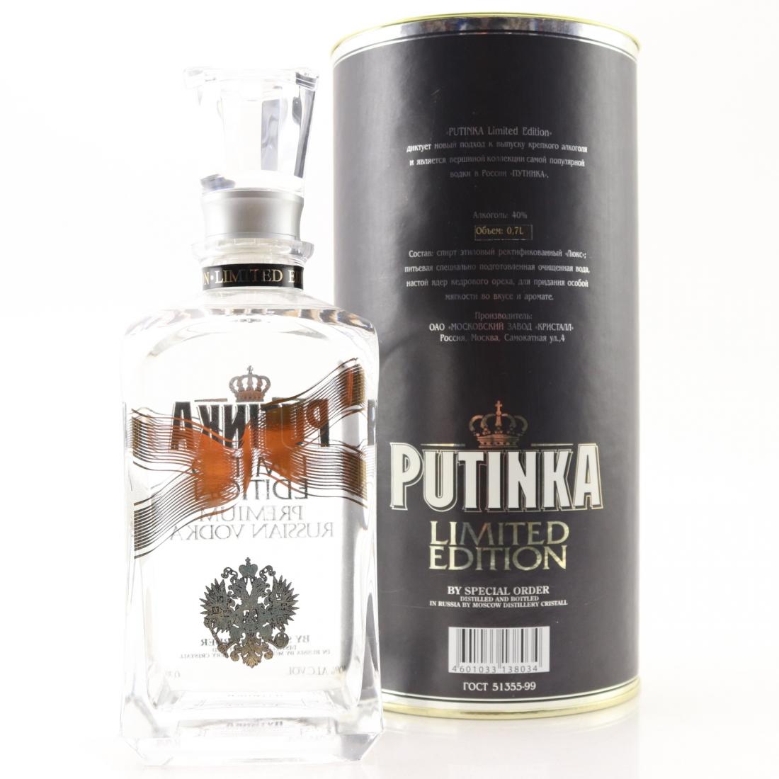Putinka Limited Edition Russian Vodka