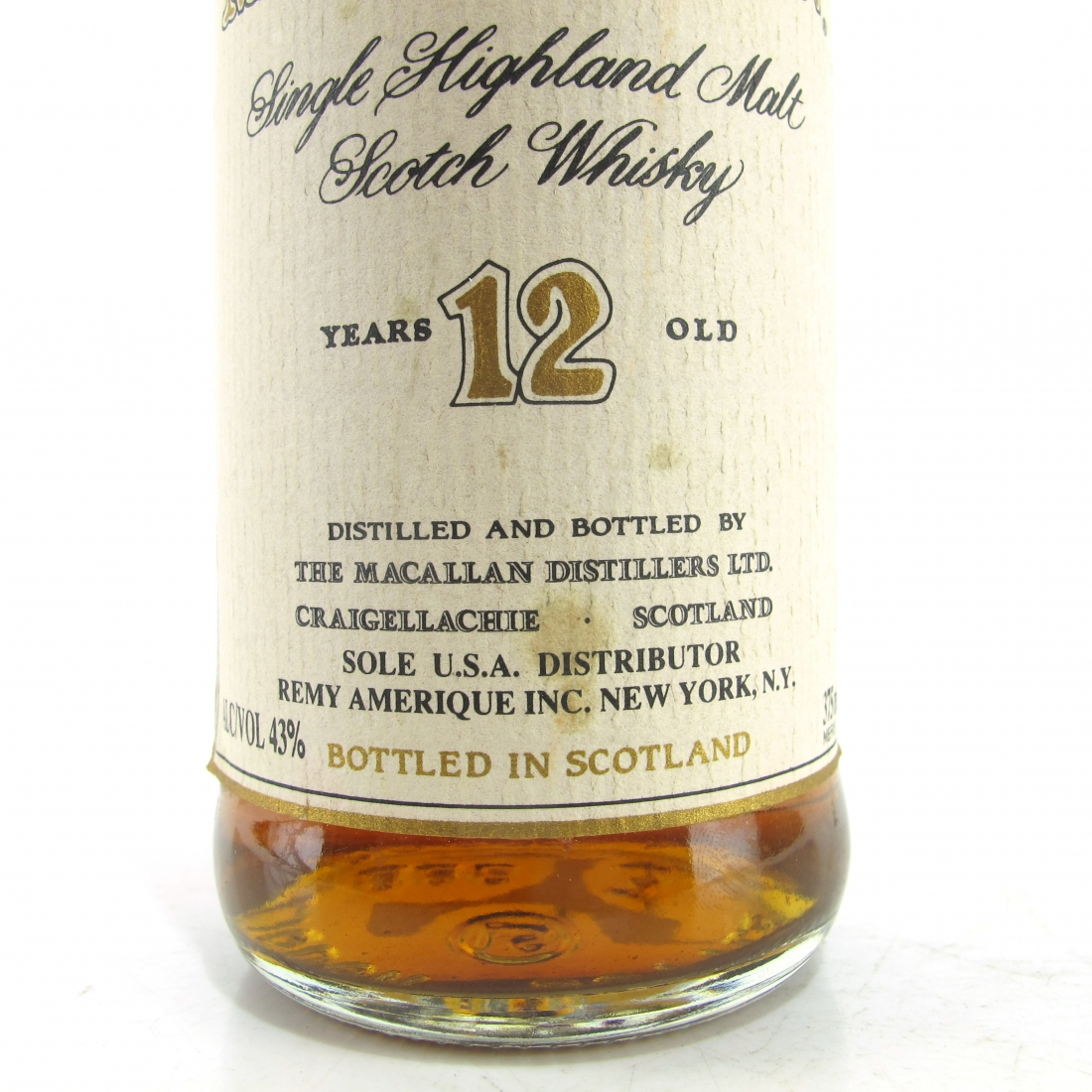 Macallan 12 Year Old 37.5cl / US Import