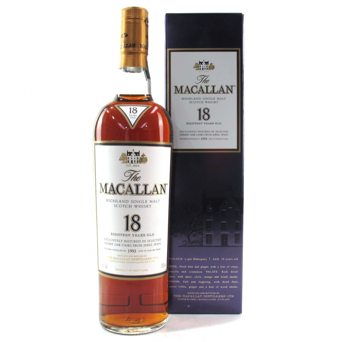 Macallan 18 Year Old 1993 75cl / US Import