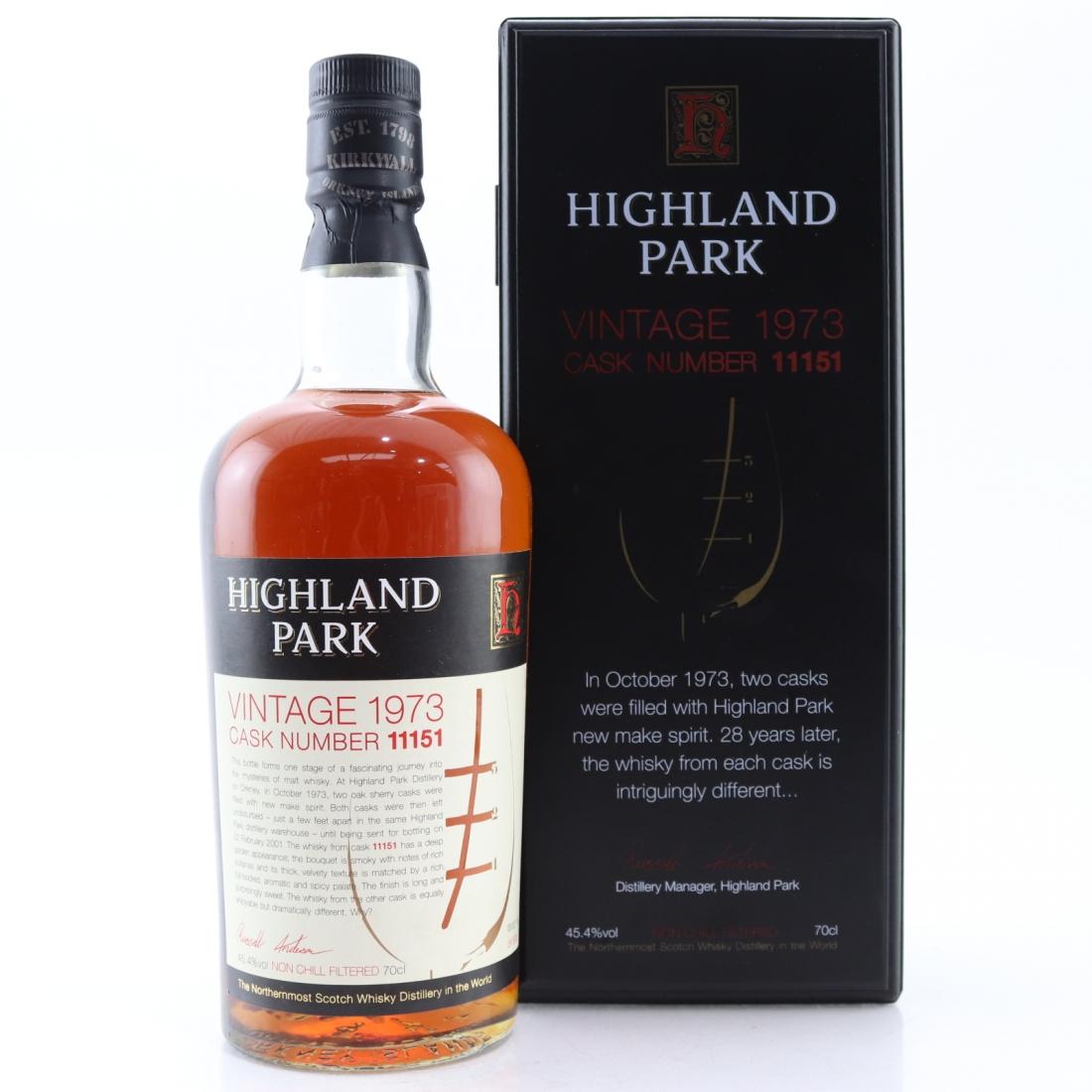 Highland Park 1973 Single Cask 28 Year Old #11151
