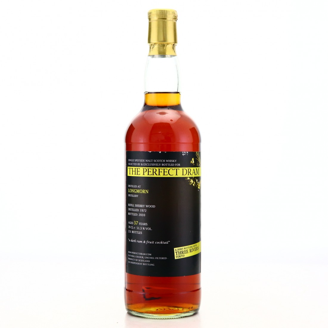 Longmorn 1972 Whisky Agency 37 Year Old Perfect Dram / Three Rivers