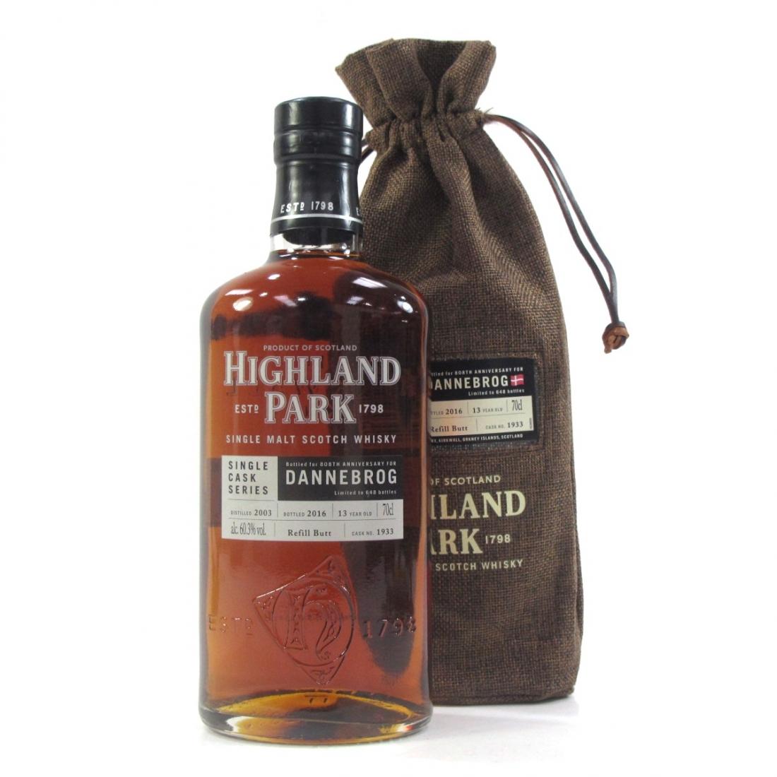 Highland Park 2003 Single Cask 13 Year Old #1933 / Dannebrog 808th Anniversary